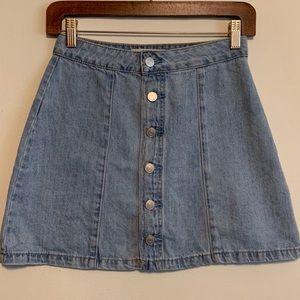 PacSun Silver Button Jean Mini Skirt 25